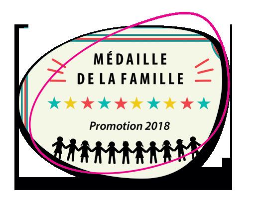 Médaille de la Famille – Promotion 2018
