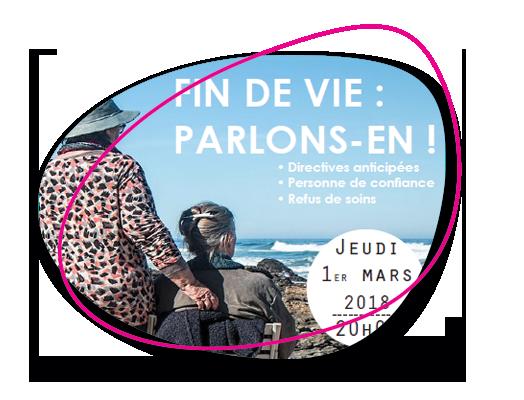 Conférence-débat le jeudi 1er mars 2018 sur le thème : « Fin de vie, parlons-en ! »
